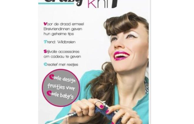 tijdschrift cover crazy knit