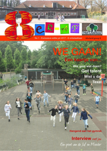 cover afscheid groep 8 overbos