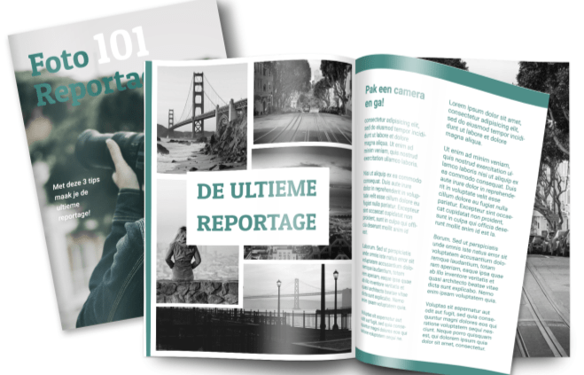 reportage mock-up